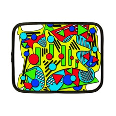 Colorful Chaos Netbook Case (small)  by Valentinaart