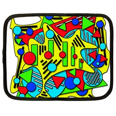 Colorful Chaos Netbook Case (large) by Valentinaart