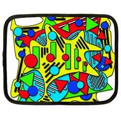 Colorful Chaos Netbook Case (xxl)  by Valentinaart
