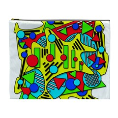 Colorful Chaos Cosmetic Bag (xl) by Valentinaart