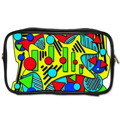 Colorful Chaos Toiletries Bags 2 Side by Valentinaart
