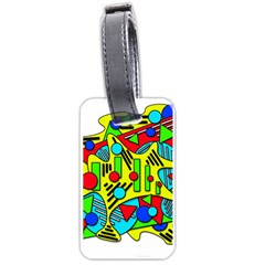 Colorful Chaos Luggage Tags (one Side)  by Valentinaart