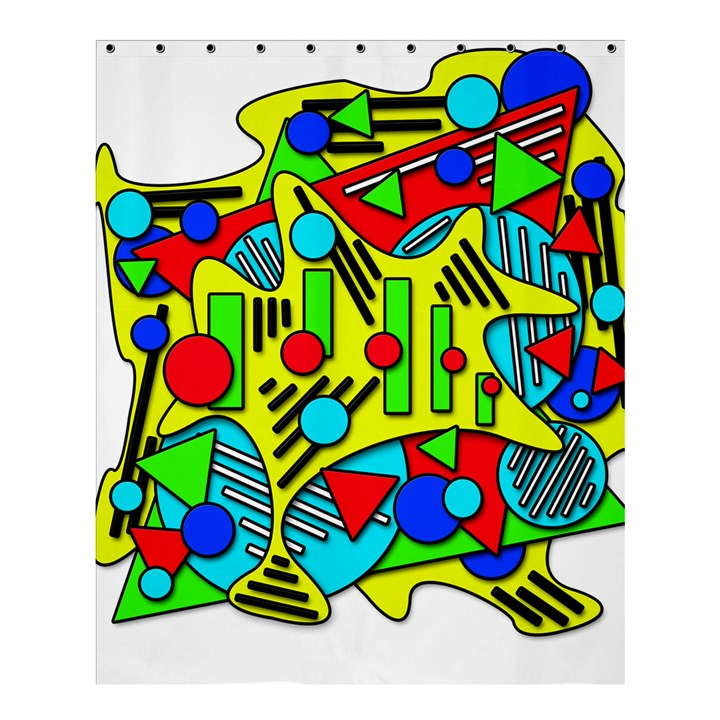 Colorful chaos Shower Curtain 60  x 72  (Medium)