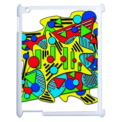 Colorful Chaos Apple Ipad 2 Case (white) by Valentinaart