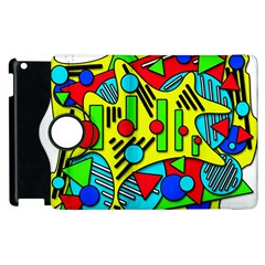 Colorful Chaos Apple Ipad 2 Flip 360 Case