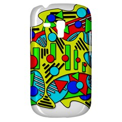 Colorful Chaos Samsung Galaxy S3 Mini I8190 Hardshell Case by Valentinaart