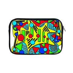 Colorful Chaos Apple Ipad Mini Zipper Cases by Valentinaart