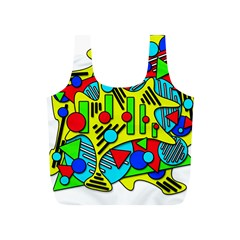 Colorful Chaos Full Print Recycle Bags (s)