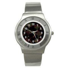 Decorative Fish Pattern Stainless Steel Watch by Valentinaart