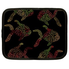 Decorative Fish Pattern Netbook Case (xxl)  by Valentinaart
