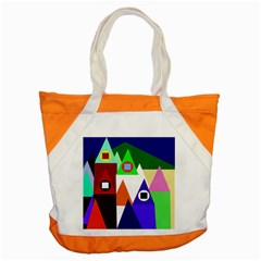 Colorful Houses  Accent Tote Bag by Valentinaart