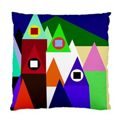 Colorful Houses  Standard Cushion Case (one Side) by Valentinaart