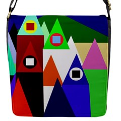 Colorful Houses  Flap Messenger Bag (s) by Valentinaart