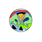 Colorful landscape Hat Clip Ball Marker Front