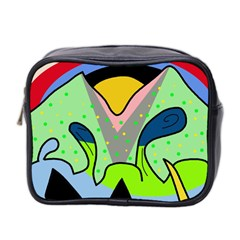 Colorful Landscape Mini Toiletries Bag 2 Side by Valentinaart