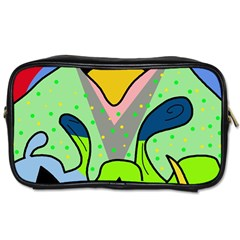 Colorful Landscape Toiletries Bags 2 Side by Valentinaart