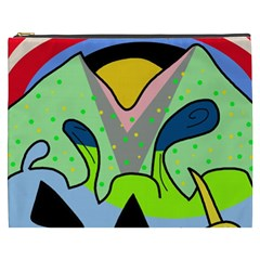 Colorful Landscape Cosmetic Bag (xxxl)  by Valentinaart