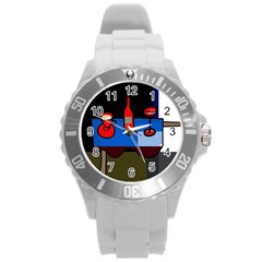 Table Round Plastic Sport Watch (l)
