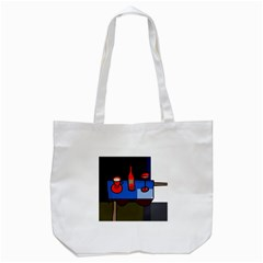 Table Tote Bag (white) by Valentinaart