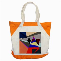 Geometrical Abstract Design Accent Tote Bag by Valentinaart