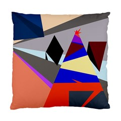 Geometrical Abstract Design Standard Cushion Case (one Side) by Valentinaart