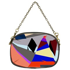 Geometrical Abstract Design Chain Purses (two Sides)  by Valentinaart