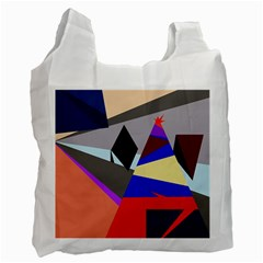 Geometrical Abstract Design Recycle Bag (two Side)  by Valentinaart