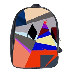 Geometrical Abstract Design School Bags(large)