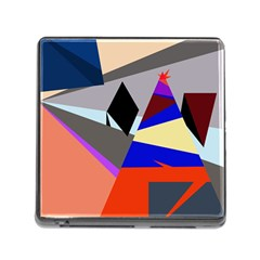 Geometrical Abstract Design Memory Card Reader (square) by Valentinaart
