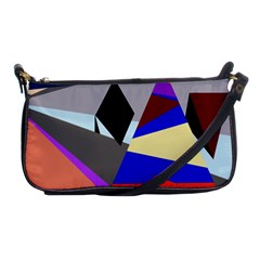 Geometrical Abstract Design Shoulder Clutch Bags by Valentinaart