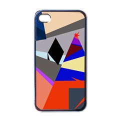 Geometrical Abstract Design Apple Iphone 4 Case (black)