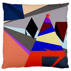 Geometrical Abstract Design Large Cushion Case (two Sides)