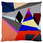 Geometrical abstract design Large Cushion Case (Two Sides) Back