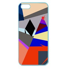 Geometrical Abstract Design Apple Seamless Iphone 5 Case (color) by Valentinaart