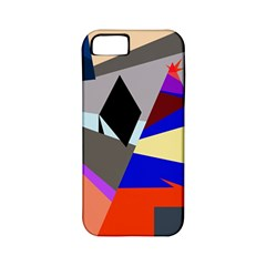 Geometrical Abstract Design Apple Iphone 5 Classic Hardshell Case (pc+silicone) by Valentinaart