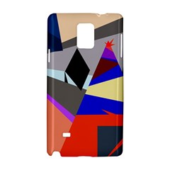 Geometrical Abstract Design Samsung Galaxy Note 4 Hardshell Case by Valentinaart