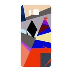 Geometrical Abstract Design Samsung Galaxy Alpha Hardshell Back Case by Valentinaart