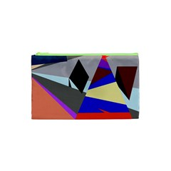 Geometrical Abstract Design Cosmetic Bag (xs)