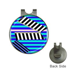 Blue Lines Decor Hat Clips With Golf Markers