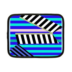 Blue Lines Decor Netbook Case (small)