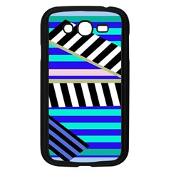 Blue Lines Decor Samsung Galaxy Grand Duos I9082 Case (black) by Valentinaart