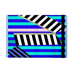 Blue Lines Decor Ipad Mini 2 Flip Cases by Valentinaart