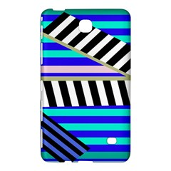 Blue Lines Decor Samsung Galaxy Tab 4 (7 ) Hardshell Case  by Valentinaart