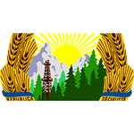 National Emblem of Romania, 1965-1989  SORRY 3D Greeting Card (8x4) Back