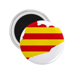 Flag Map Of Catalonia 2 25  Magnets by abbeyz71