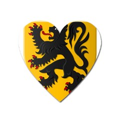 Flanders Coat Of Arms  Heart Magnet