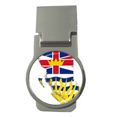 Flag Map Of British Columbia Money Clips (round)  by abbeyz71