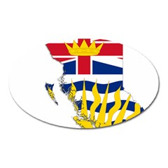 Flag Map Of British Columbia Oval Magnet by abbeyz71