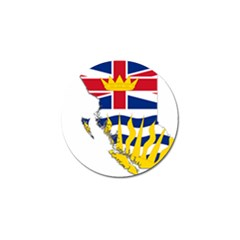 Flag Map Of British Columbia Golf Ball Marker (4 Pack) by abbeyz71