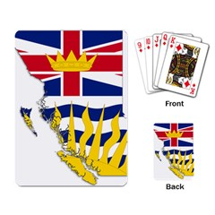 Flag Map Of British Columbia Playing Card by abbeyz71